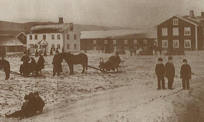 Vinterbilde Melgården ca 1870-tallet